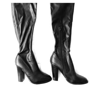 "ALDO ""Zip"" Thigh High Leather Boots"